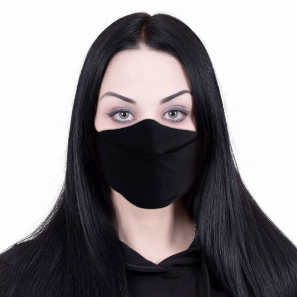 urban fashion svart munnbind med justering P004A812