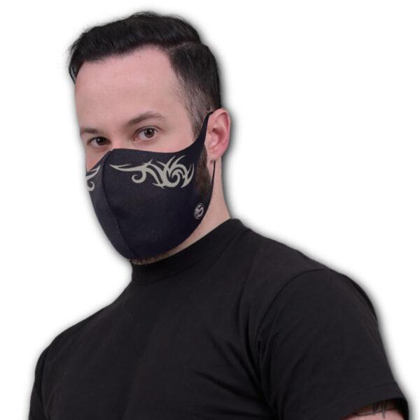 tribal mask munnbind med trykk T190A811
