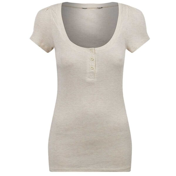off-white utringet topp til dame med knapper 55846OFF
