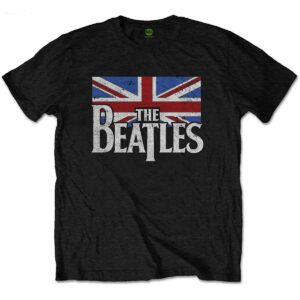 beatles t-skjorte til barn logo & vintage flagg BEATTEE40