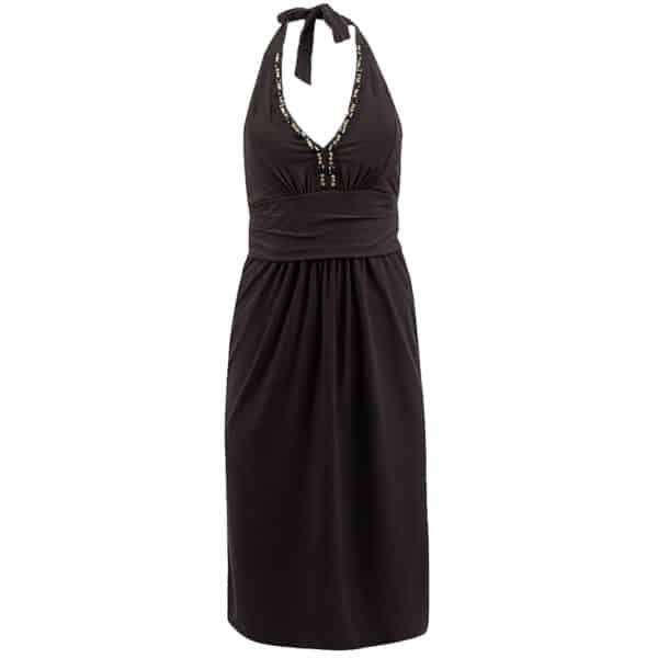 halterneck kjole knelengde svart avon ltd F5916900
