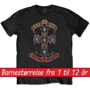 guns n roses t-skjorte barn appetite for destruction GNRTSP01BB