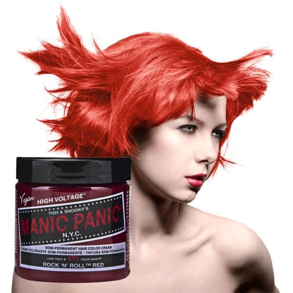 manic panic classic high voltage rød hårfarge 118ml rock 'n' roll red model pot 70429
