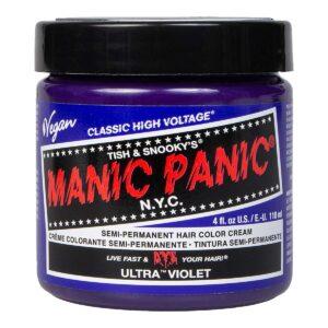 manic panic classic high voltage blå hårfarge 118ml ultra violet pot 70435