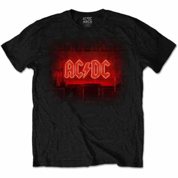AC/DC shot in the dark stage tracklist svart t-skjorte ACDCTS83MB