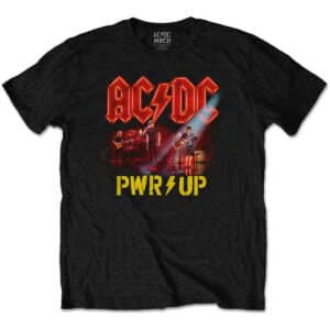 AC/DC t-skjorte med neon live pwr-up trykk ACDCTS85MB