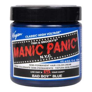 manic panic classic high voltage blå hårfarge 118ml bad boy blue pot 62934